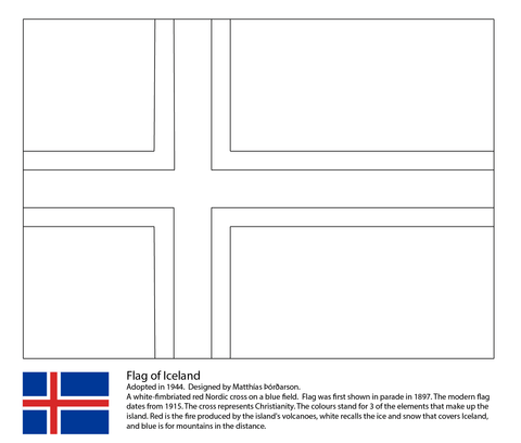 Flag Of Iceland Coloring Page Free Printable Coloring Pages Flag Coloring Pages Iceland Flag Norway Flag