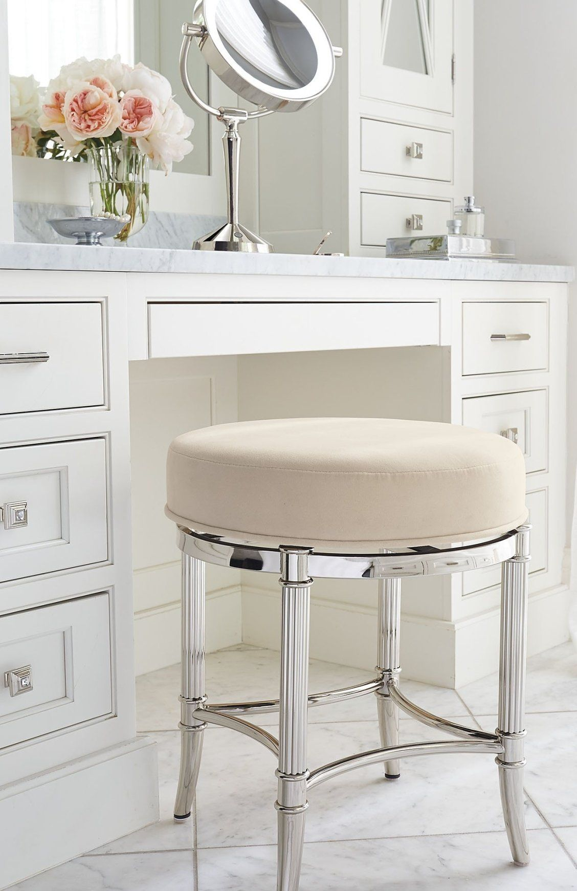 Bailey Swivel Vanity Stool In 2020 Bathroom Vanity Stool Vanity