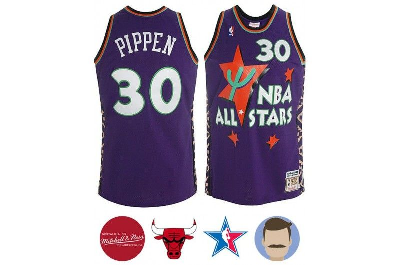 6eed13470e9 Men s Scottie Pippen  30 Blue 1994-95 All-star Jersey