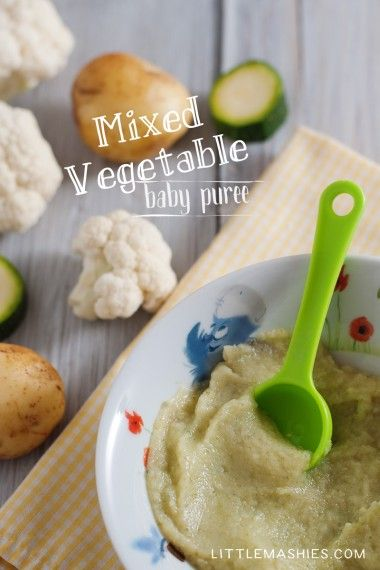 Baby Food Recipe Mixed Vegetable Puree From Little Mashies Reusable