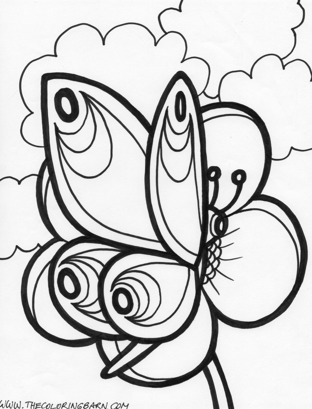 Butterfly Coloring Pages For Kids Cute Butterfly Coloring Pages Auromas Of 50 Free Printable Butte In 2020 Butterfly Coloring Page Flower Coloring Pages Coloring Pages [ 1310 x 1000 Pixel ]