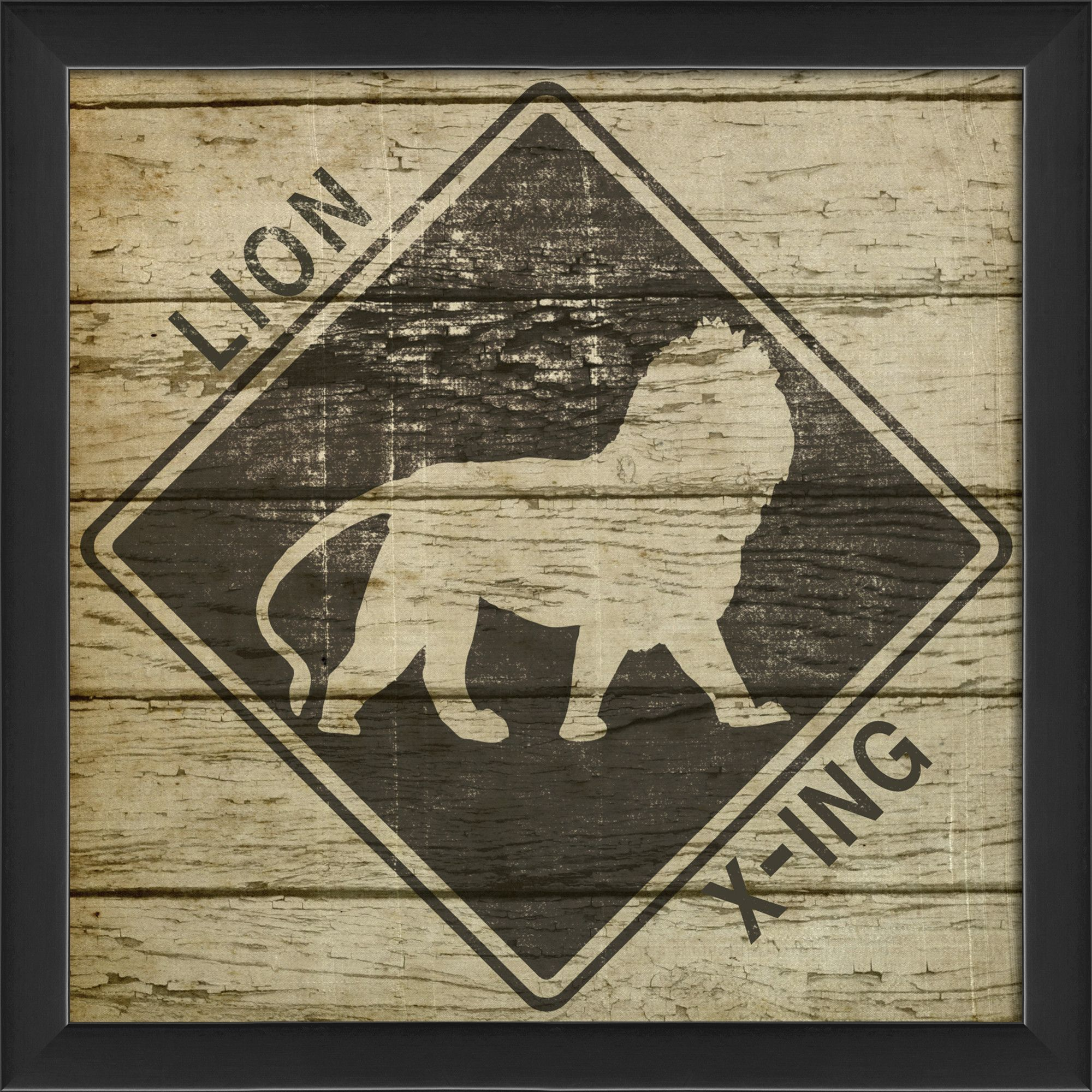 Lion Xing Framed Graphic Art
