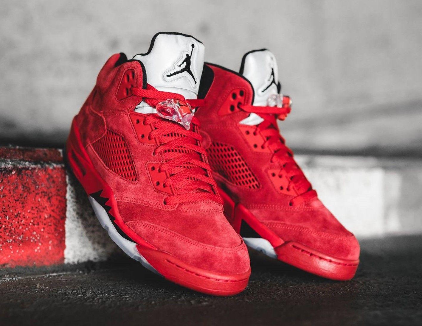 918a0e7399a20 Air Jordan 5 Red Suede In 2009, Jordan Brand appeared the Raging Bull Air  Jordan 5. For 2017, they're set