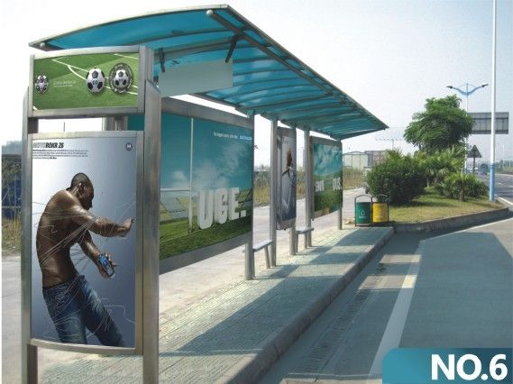 Public Advertising Display Solar Led Bus Station Buy Bus
