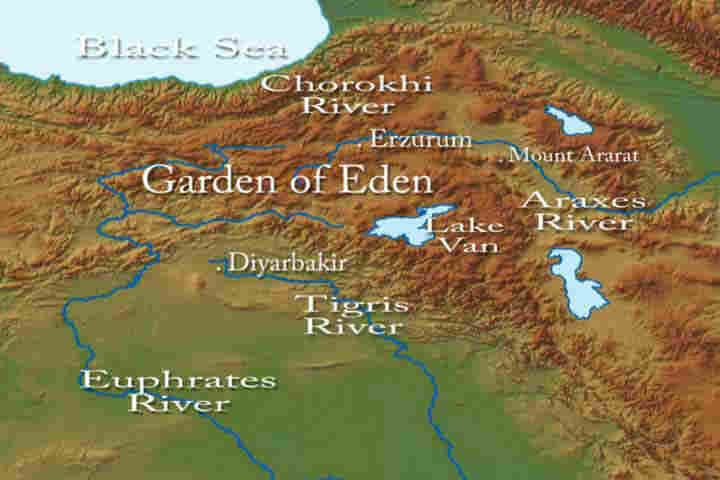 Was The Garden Of Eden Located In Garden Of Eden Bible Mapping Biblical Garden