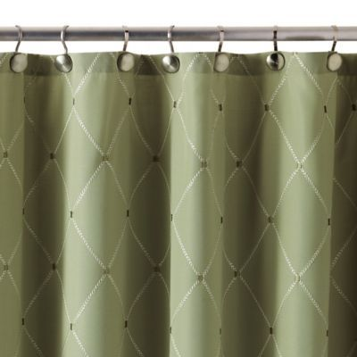 Buy Wellington 72 Inch X 84 Inch Shower Curtain In Green From Bed