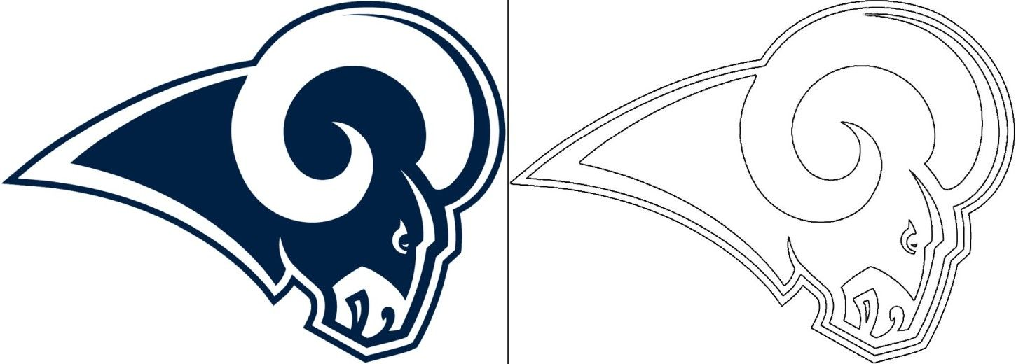 Rams Logo Coloring Page In 2020 Oakland Raiders Logo Redskins