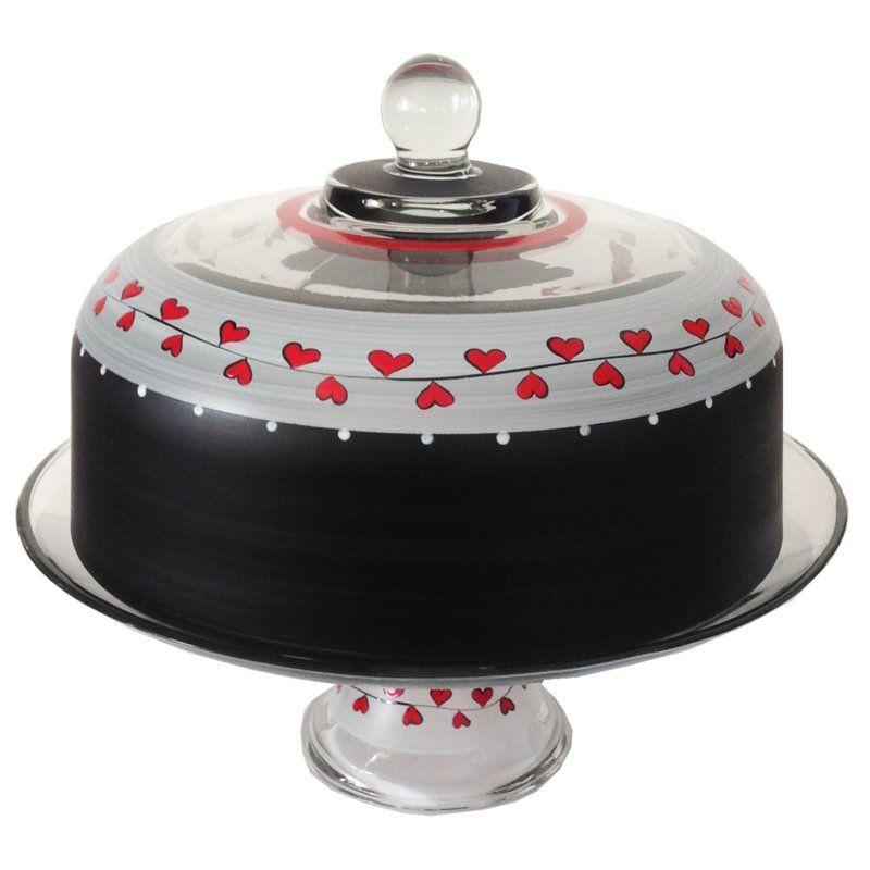 Hearts vines cake stand cake dome victoria cakes