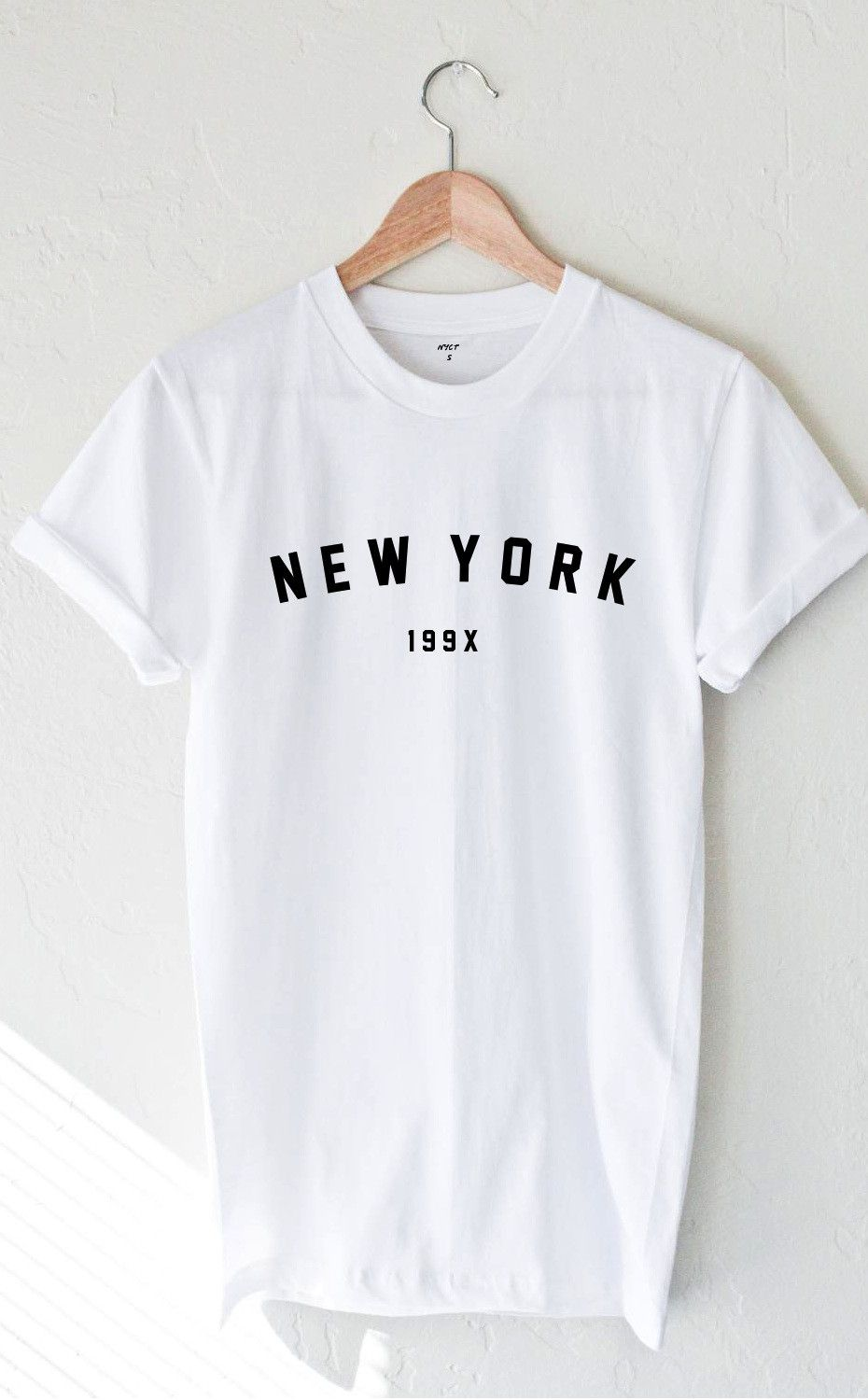 New York 199x T-shirt - White from NYCT | Graphic Tees in ...