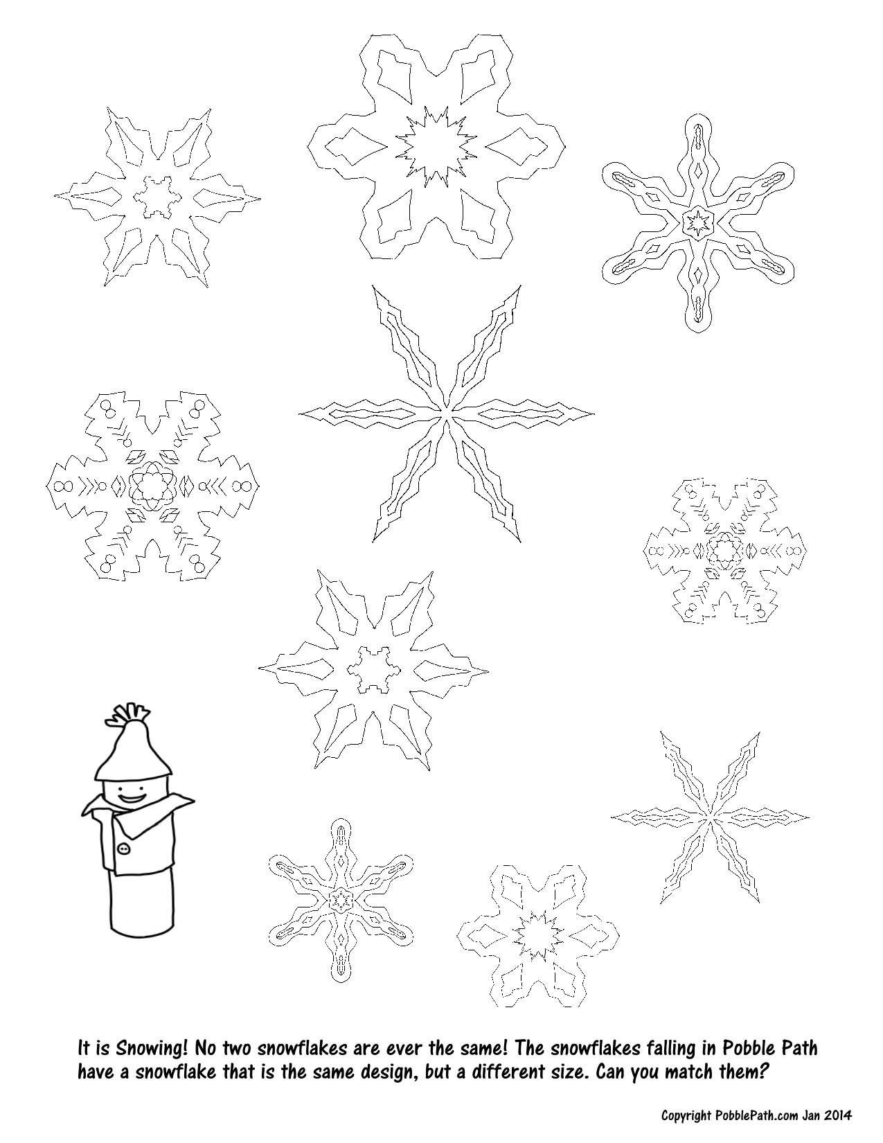 Snowflake Match Game Kids Games and Activities