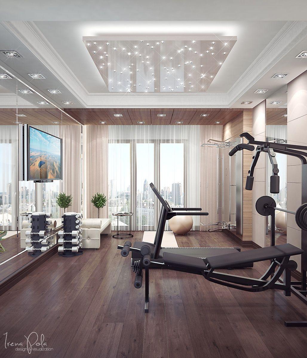 Interior Design Ideas For Home Gym: Apartment-home-gym Di 2019