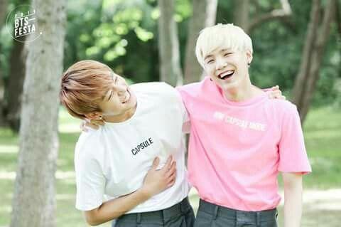B T S * 3rd Anniversary Family Picture * BTS Festa 2016 * Jungkook x Suga #Bangtan #Boys #방탄수년단 #BigHitEnt #2016   @kaylaaaq