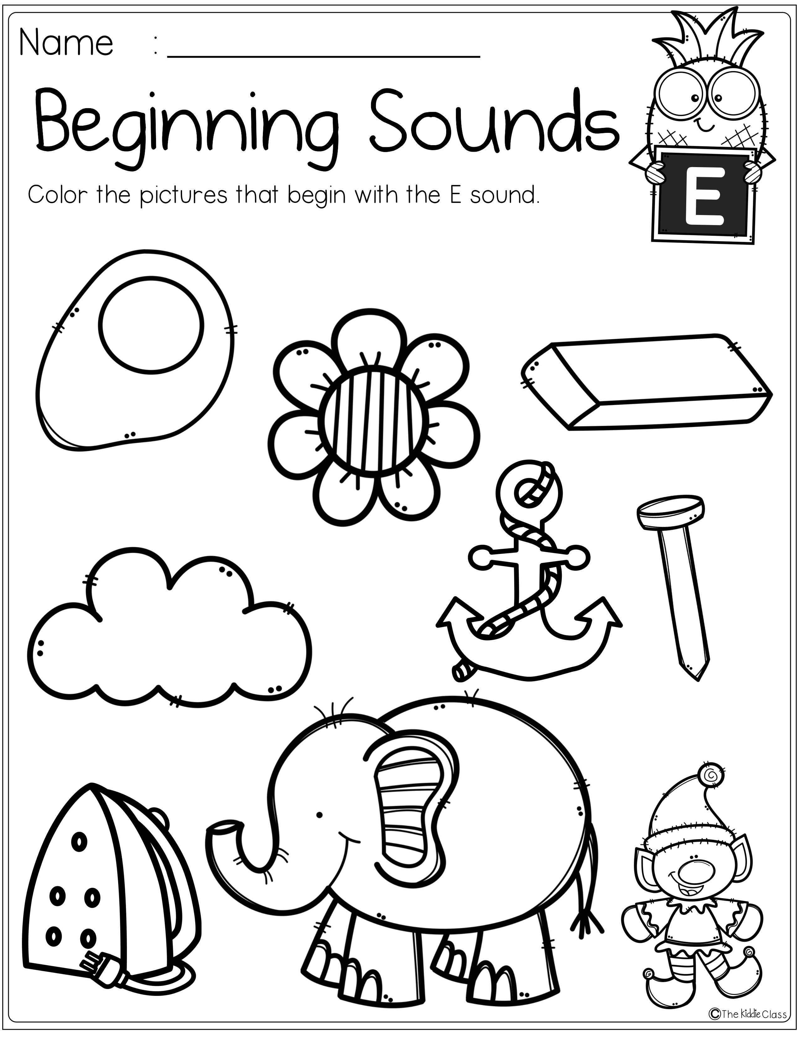 Alphabet Beginning Sounds Printables Beginning Sounds Worksheets Kindergarten Worksheets Printable Letter Sounds Kindergarten