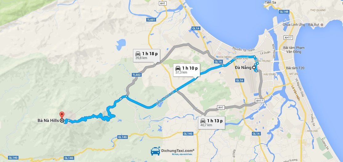 Đường đi từ Đà Nẵng lên Bà Nà Hills