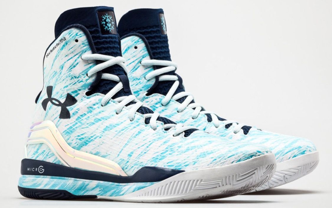 Steph Curry's Baby Blue Basketball Shoes Curry shoes