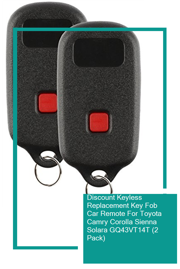 Discount Keyless Replacement Key Fob Car Remote For Toyota Camry