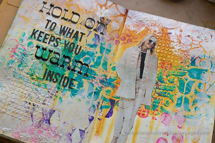 "Today, Cheiron Brandon from my Creative Squad is sharing a beautiful art journal spread using my Buenos Aires stencil and this month's theme: ""Return to the Light."" As we pass through the Winter…"