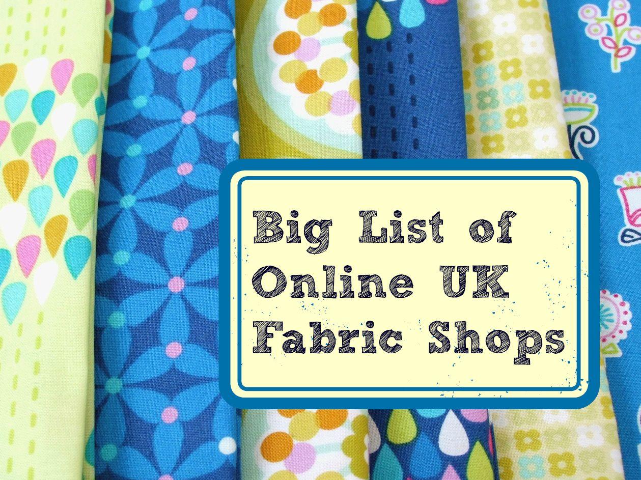 Learn to Sew | Fabric shop, Fabrics and Dressmaking : quilting fabric uk - Adamdwight.com