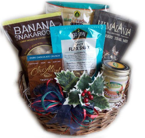 Raw food christmas gift basket vegan and gluten free by well raw food christmas gift basket vegan and gluten free by well baskets trust me negle Image collections