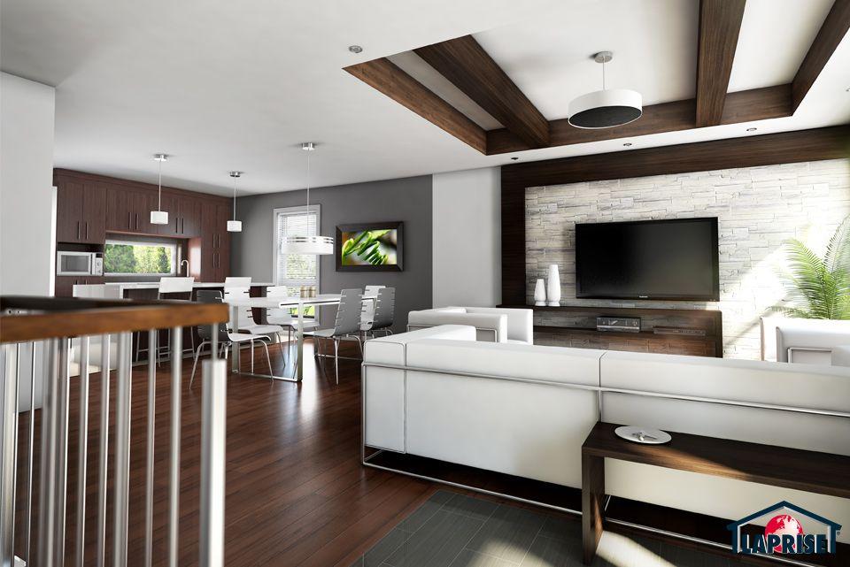 Designer, Zen / Contemporain LAP0512 Maison Laprise - Maisons - entree de maison contemporaine