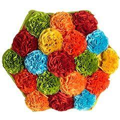 Fiesta carnations pillow