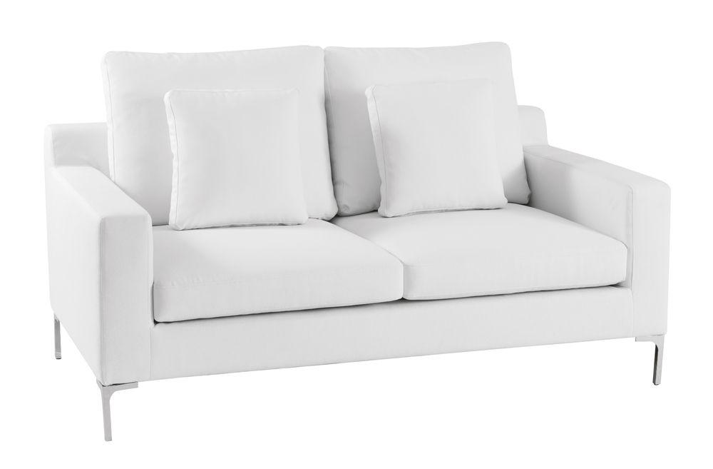 Oslo two seater sofa white | White sofas, Black sofa, Sofa