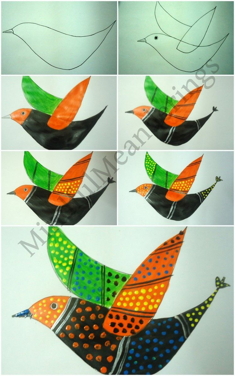Exploring india folk and tribal art gond painting step by for Art and craft books for kids