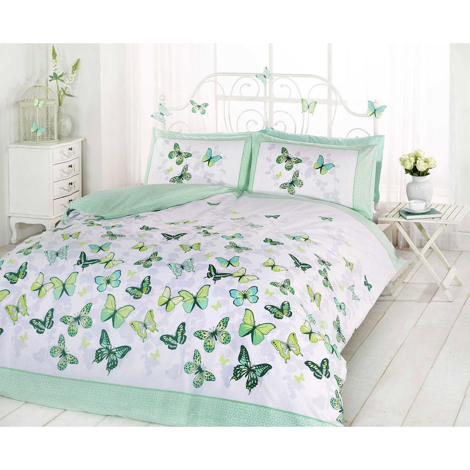 sets of butterfly image nursery bedspread set for comforter