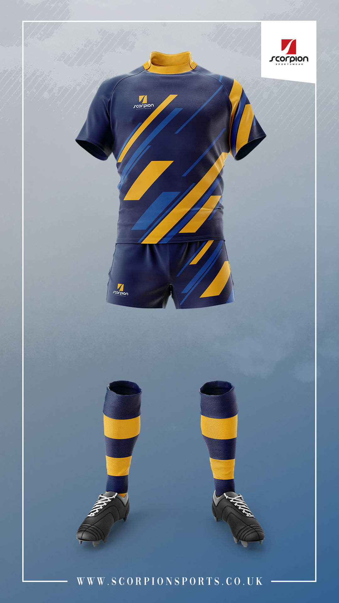 Scorpion Sports Providing Bespoke Sportswear For Various Sports Choose Any Shirt Design And Use Any Colour Scheme T Rugby Design Sport Outfits Rugby Uniform
