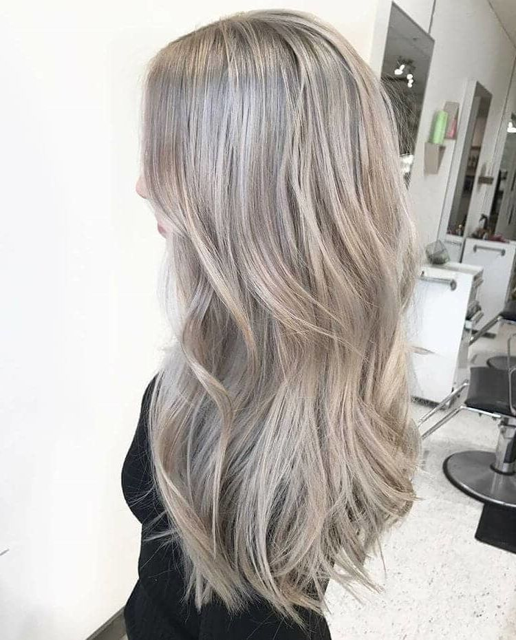 50 Ash Blonde Hair Color Ideas 2019 Grey Blonde Hair Ashy