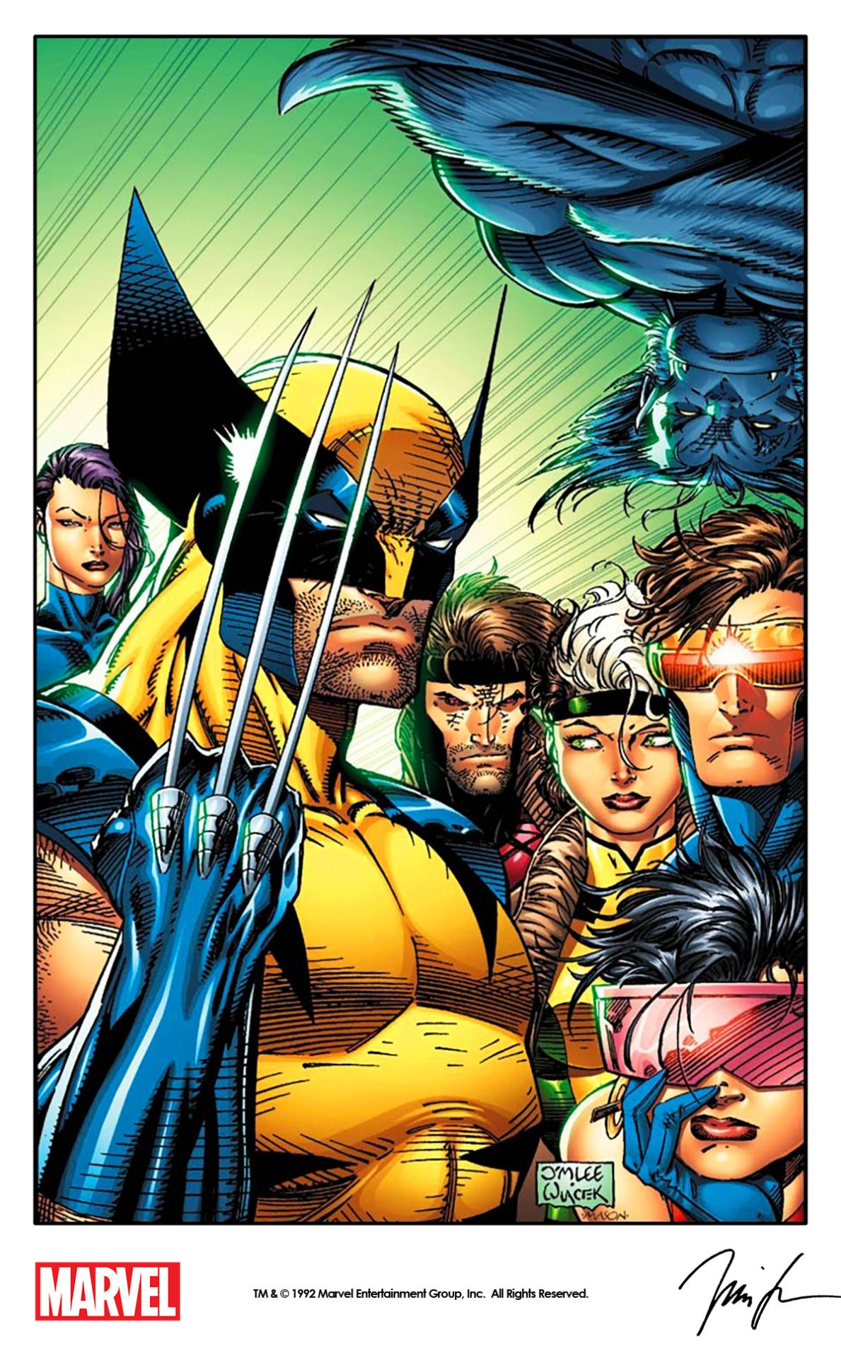 X Men 4 Cover Art By Jim Lee And Bob Wiacek 1992 Remastered By Marvel With Digital Colors By Thomas Mason For The Cover Of X Men B Jim Lee Art Marvel Comics