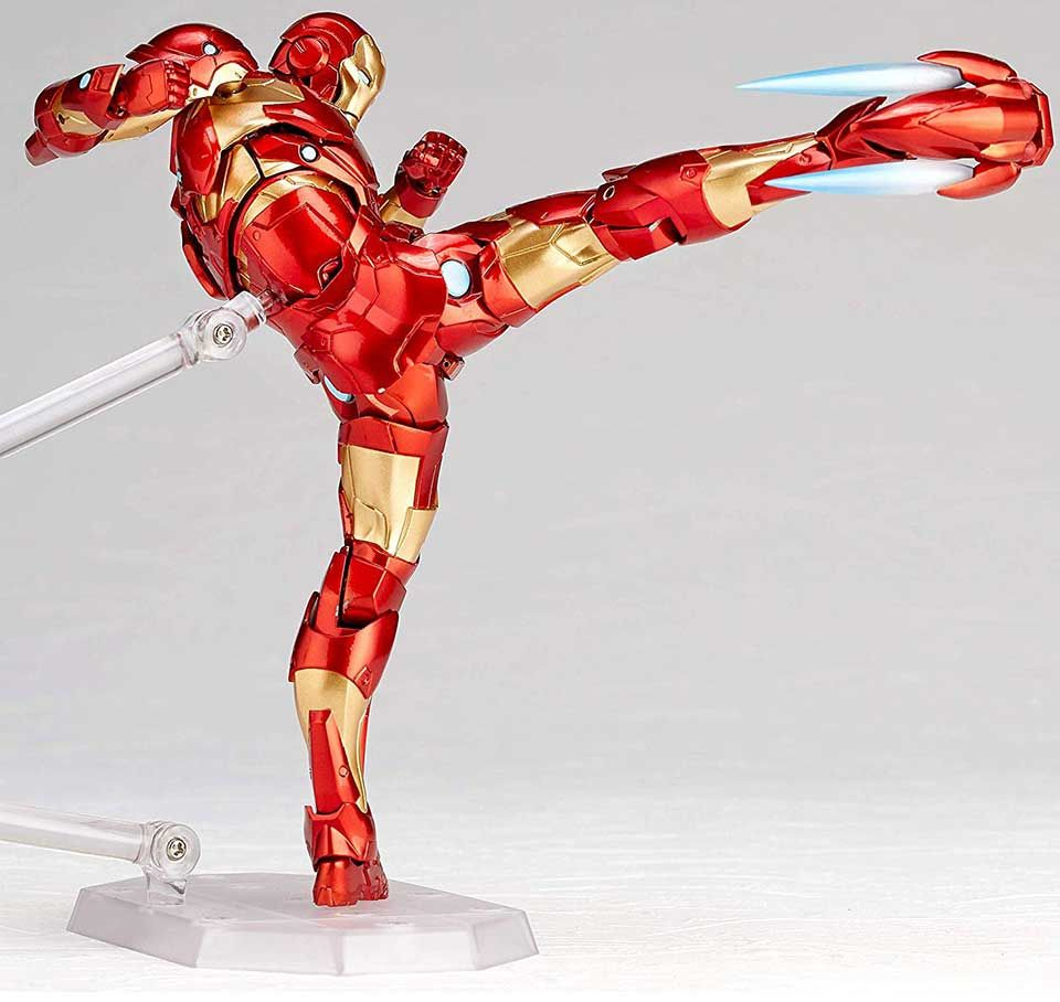 The Amazing Yamaguchi Iron Man Action Figure Is Ready For Poses Iron Man Action Figures Iron Man Iron Man Bleeding Edge