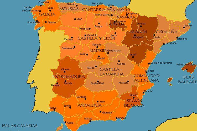 Image Result For Mapa Da Espanha Espanha Espanhol Ilhas Baleares