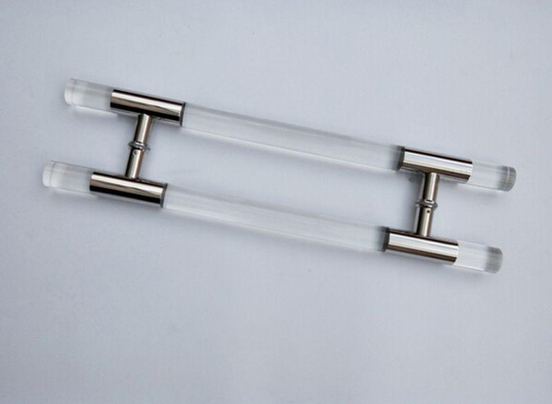 Entrance Door Handle Clear Acrylic Plexiglass Pull Handles 38*600mm ...