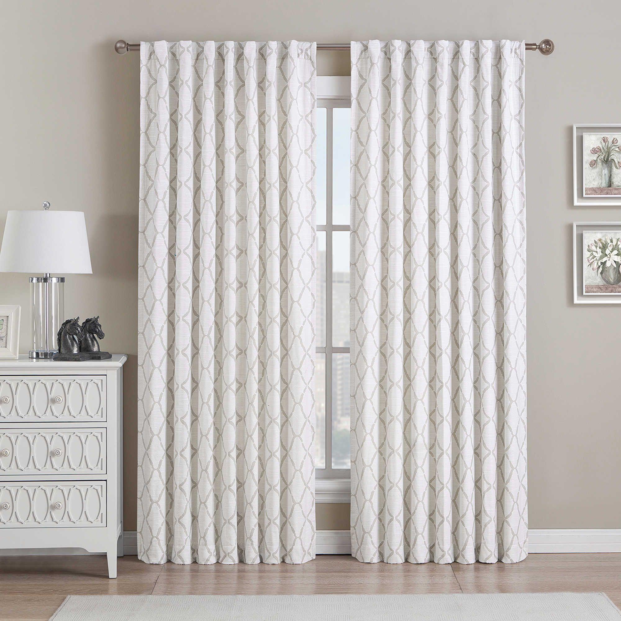 Bed bath and beyond window curtains  be artistic ellis oval rod pocketback tab window curtain panel