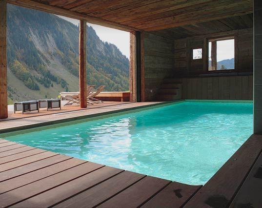 Piscine intérieure design Caron Piscines Piscines du0027intérieur - location villa piscine couverte chauffee