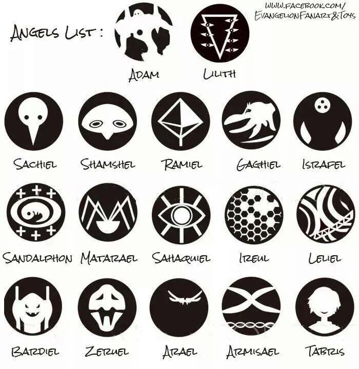 Evangelion Everywhere Angels List Anime Manga J
