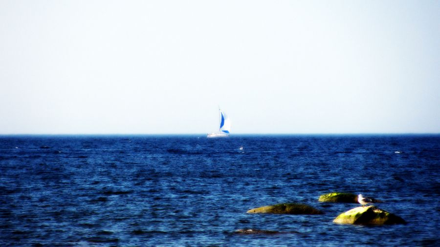 The  first sailboat