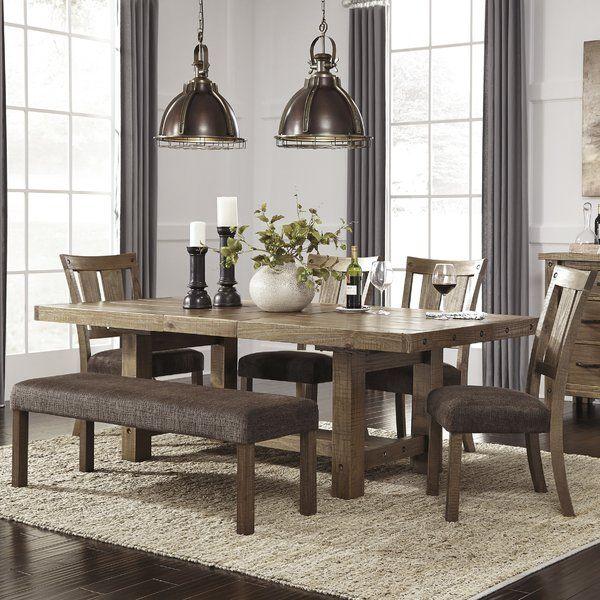 Etolin Extendable Dining Table In 2019 Maple Ridge Farmhouse Dining Room Table Dining Room