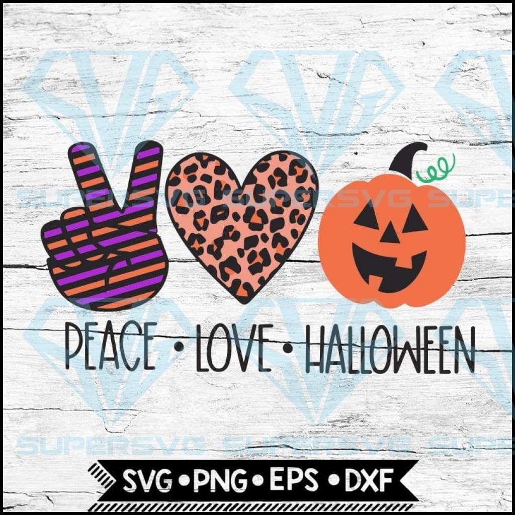 Download Peace Love Halloween, Halloween Svg, Pumpkin Svg, Cricut ...