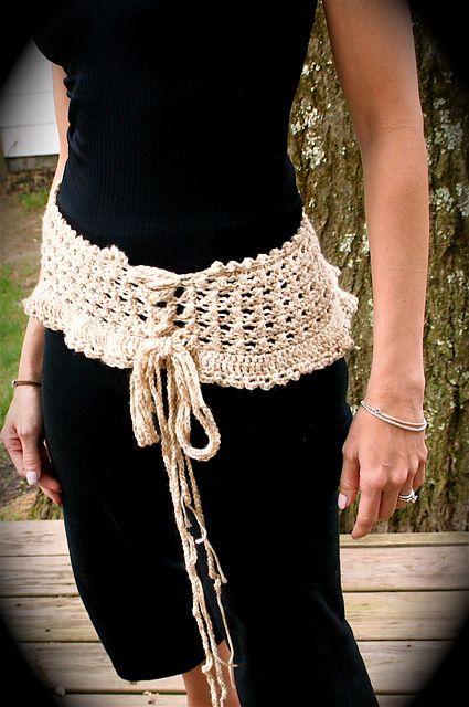 Ruffled Corset Belt Pattern By Tricia Royal Crochet Belts
