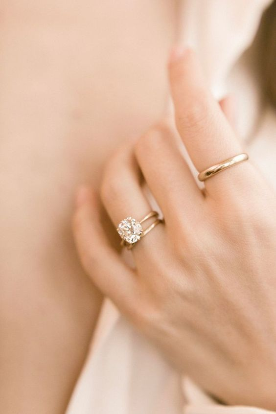 1.5 CT Round Cut Moissanite Diamond 14KT White Gold Solitaire Engagement Ring Wedding Ring Custom  #cushionengagementring