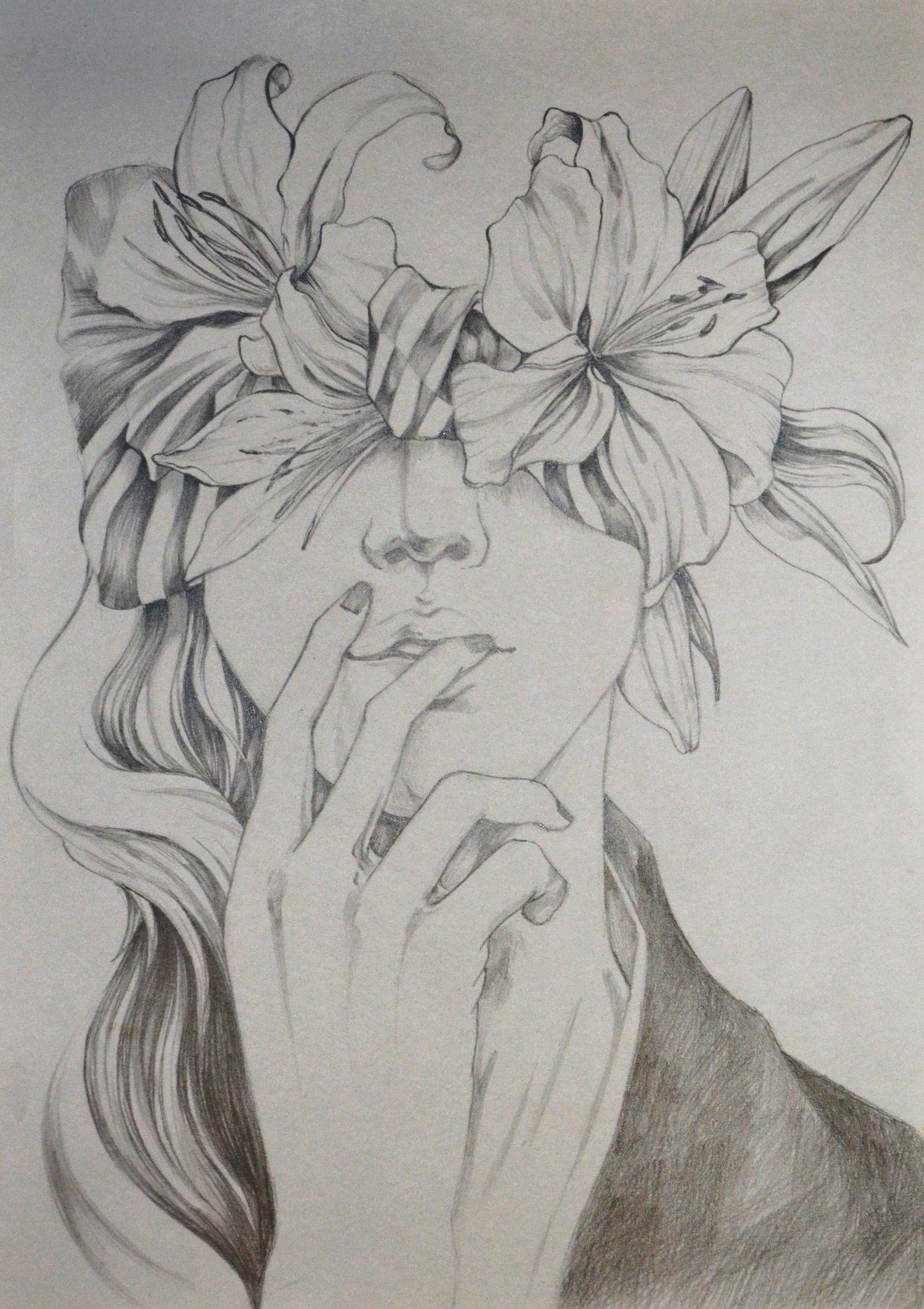 Свою виртуальную, картинки цветы рисунки карандашом