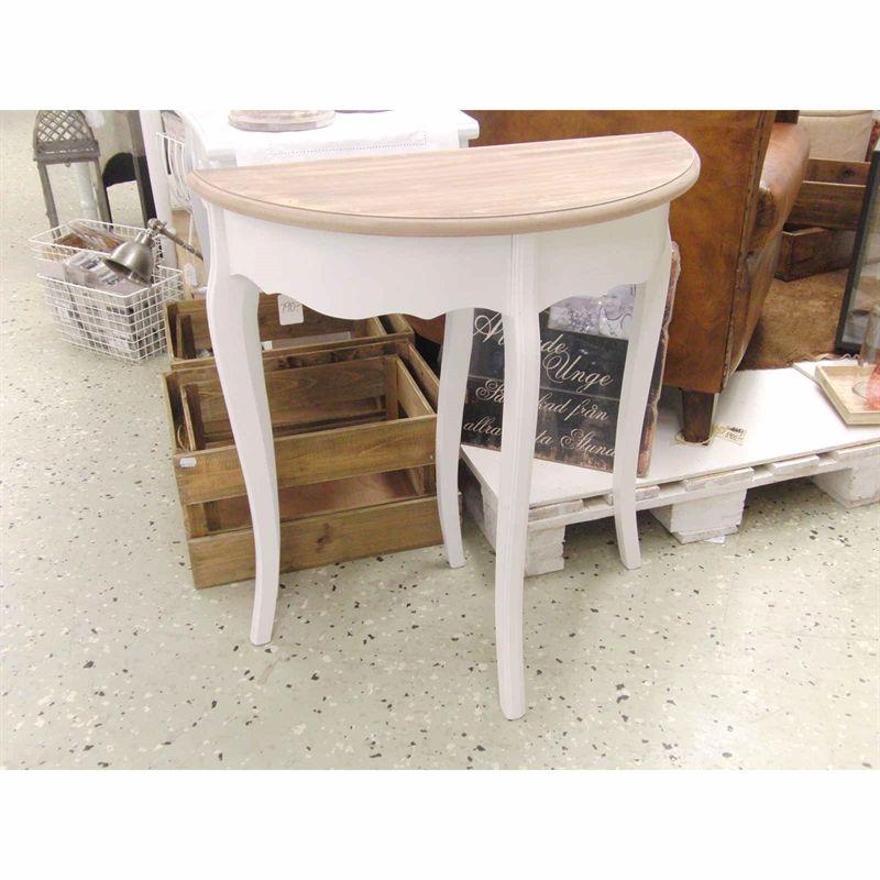 Halvmåne bord vit Brun Möbler och inredningsdetaljer Pinterest Möbler