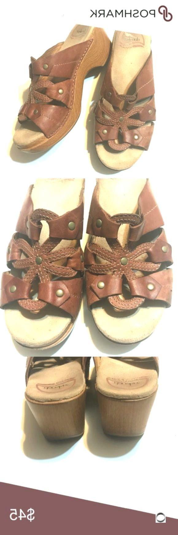 Brown Premium Leather Open Toe Clog Sandals Dansko Serena slip on cDANSKO Brown Premium Leather Open Toe Clog Sandals Dansko Serena slip on c Victoria secret Pink dog plu...