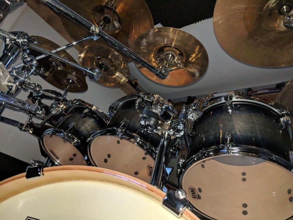 Just A Random Shot Of My New Tama Superstar Classics In Dark Indigo Burst Drums Tama Percussion
