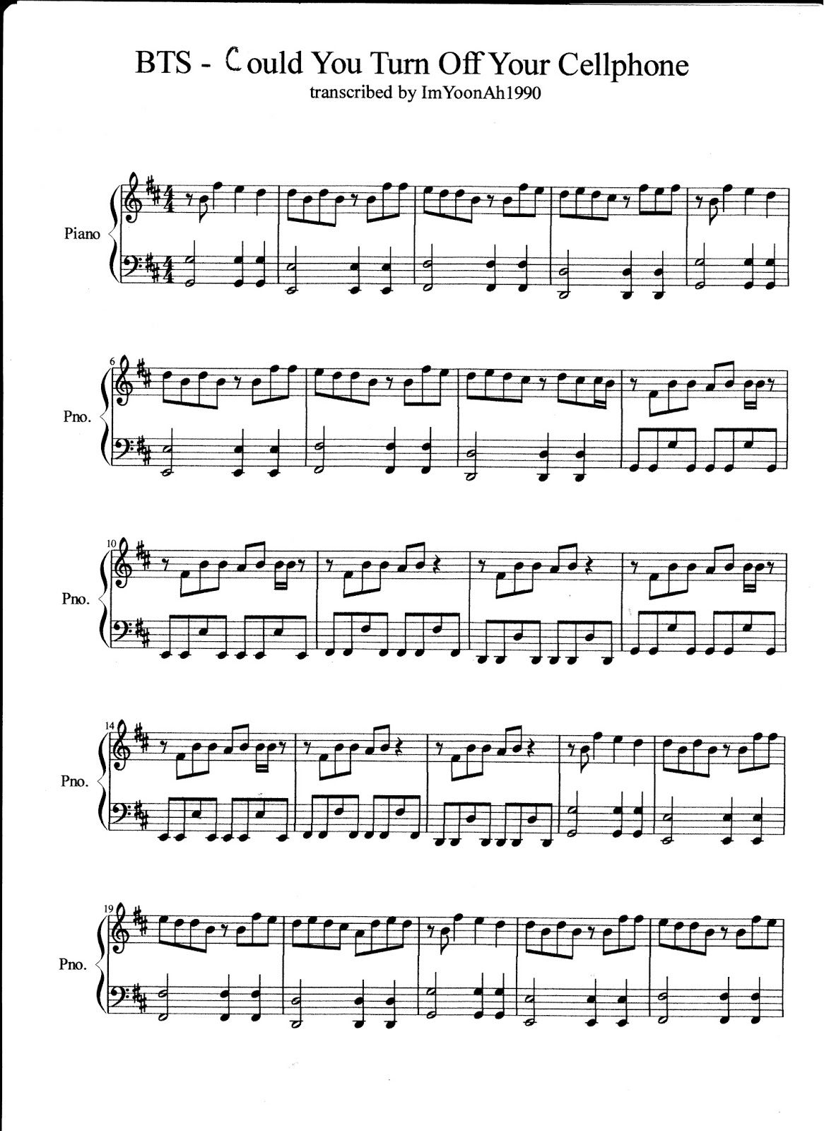 Teenagegirlemmaspot just one day pinterest pianos bts could you turn off your cellphone piano cover piano sheet sorry for the mistakes it was made on entertainment hexwebz Gallery