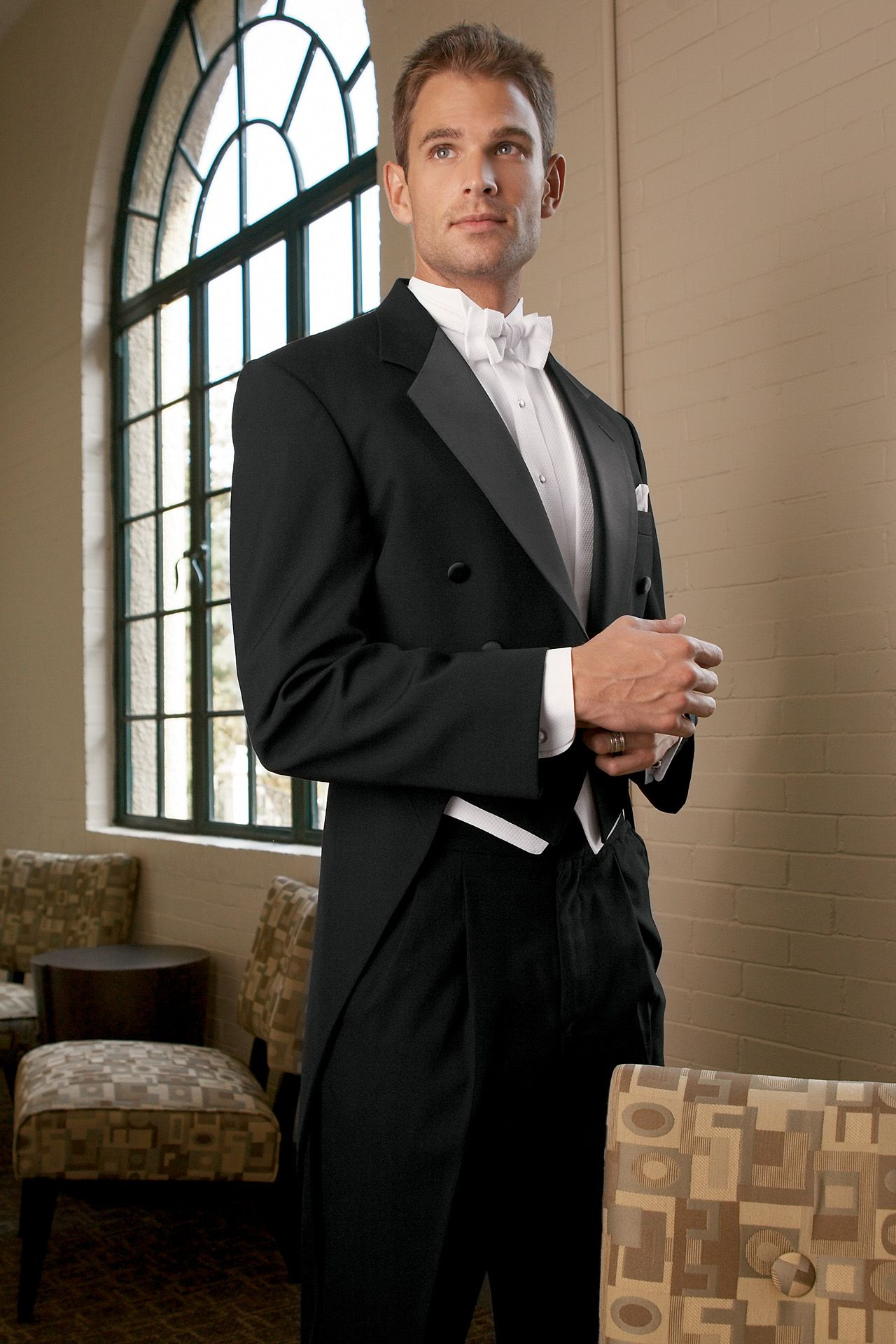Ideal For An Elegant White Tie Wedding Or Event The Clic Notch Full Dress