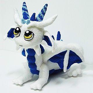 Descarga el patrón para tejer este Bebé Dragón.