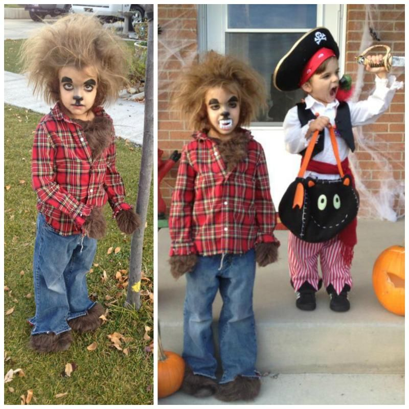 2ee180b5c7fc0 Homemade werewolf costume. My daughter begged to be a werewolf and ...